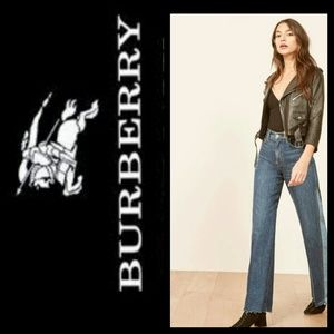 Real Burberry London Gray Windsor Flare Jeans Sz30